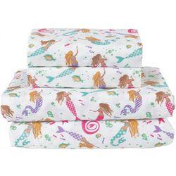Beatrice Home Dancing Tails Mermaid Microfiber Sheet Set