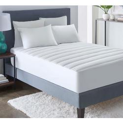 Damask Stripe Pillowtop Mattress Pad