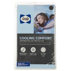 Sealy Cooling Comfort Zippered Jumbo Pillow Protector