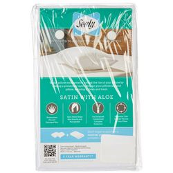 Sealy Satin Aloe Zippered Jumbo Pillow Protector