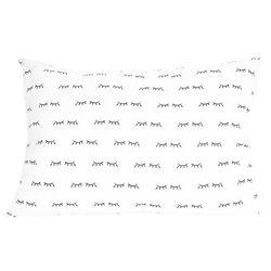 Spring Loft Down Alternative Eyelash Print Jumbo Pillow