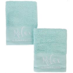 Coastal Home 2-pc. Relax & Beach A Little Hand Towel Set