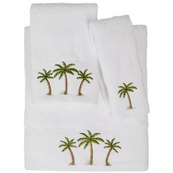 Coastal Home Palm Oasis Embroidered Bath Towel Collection