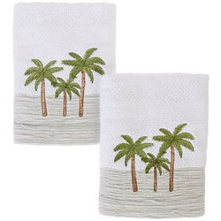 Coastal Home 2-pc. Sunset Skyline Hand Towel Set