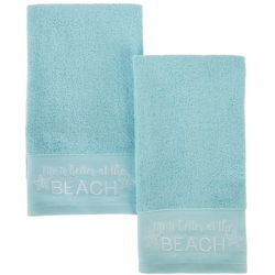 Coastal Home 2-pc. Better At The Beach Hand Towel Set