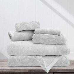 Allure 6-pc. Danika Solid Jacquard Bath Towel Set