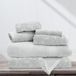 6-pc. Danika Solid Jacquard Bath Towel Set
