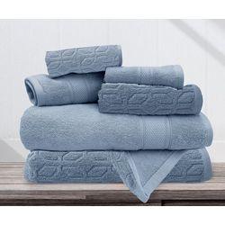 Allure 6-pc. Jude Jacquard Bath Towel Set