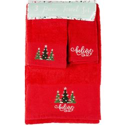 Brighten the Season 3-pc. Believe Bath Towel Set