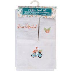 ATI 3-pc. Flamingo Bike Towel Set