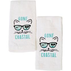 2-pc. Gone Coastal Fingertip Towel Set