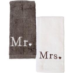 2-pc. Mr. & Mrs. Fingertip Towel Set