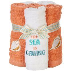 ATI 4-pc. The Sea Is Calling Wash Cloth