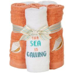4-pc. The Sea Is Calling Wash Cloth Set