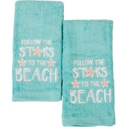 2-pc. Follow The Stars To The Beach Fingertip Towel Set