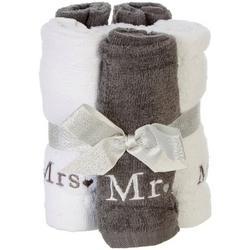 4-pc. Mr. & Mrs. Wash Cloth Set