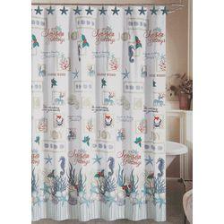 Oceanholic Shower Curtain & Hooks