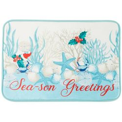 Brighten the Season Oceanholic Memory Foam Bath Mat