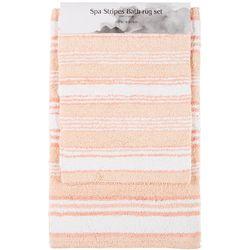 Better Trends 2-pc. Spa Stripes Reversible Bath Rug Set