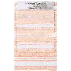2-pc. Spa Stripes Reversible Bath Rug Set