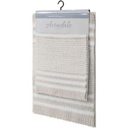 CHD Home Textiles 2-pc. Luka Two-Tone Bath Rug Set