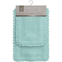 CHD Home Textiles 2-pc. Glencove Crochet Trim Bath