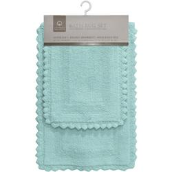 2-pc. Glencove Crochet Trim Bath Rug Set