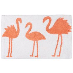 Signature Collection Three Flamingos Bath Mat