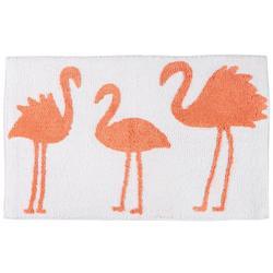 Signature Collection Three Flamingos Bath Mat