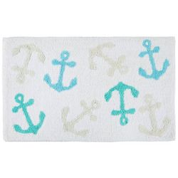 Panama Jack Signature Collection Tossed Anchors Bath Mat