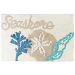 Seashore Shells Bath Rug