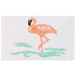 Flamingo Coral Bath Rug
