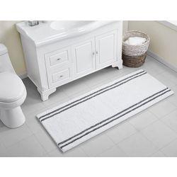 VCNY Home Stripe Chenille Noodle Runner Bath Rug