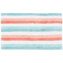 Caro Home Stripe Print Bath Rug