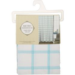 Windowpane Plaid Shower Curtain