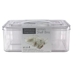 4-pk. Nesting Shelf Bin Set