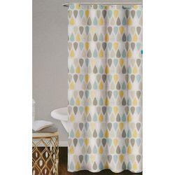 Homewear Drops Shower Curtain & Hooks