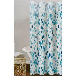 Homewear Watercolor Rain Drops Shower Curtain & Hooks