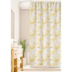 Distressed Wildflower Shower Curtain
