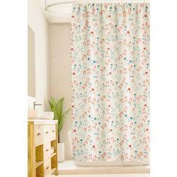 Homewear Linear Flower Shower Curtain