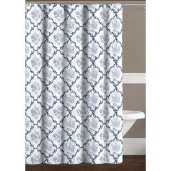 CHD Home Textiles Trellis Seashell Shower Curtain With Hooks