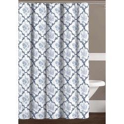 Trellis Seashell Shower Curtain With Hooks