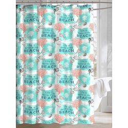 At The Beach Shower Curtain With Hooks