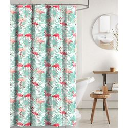 CHD Home Textiles Fortmill Flamingo Shower Curtain & Hooks