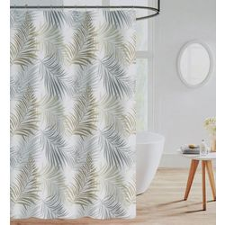 Palm Shower Curtain With Hooks