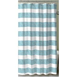 Splash Script Shower Curtain With Hooks