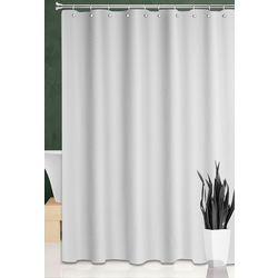 Basket Weave Fabric Shower Curtain