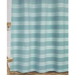 Fantasy Blue Fabric Shower Curtain