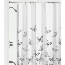 Butterflies Fabric Shower Curtain