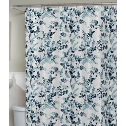 Watercolor Botanical Fabric Shower Curtain